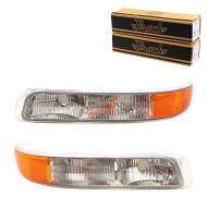 Chevrolet Tahoe Suburban Silverado New Pair Set Park Signal Side Marker Light Lamp Lens Housing