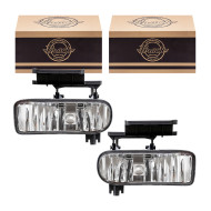Chevrolet Tahoe Suburban Silverado Pickup Truck New Pair Set Fog Light Fog Lamp Lens Housing SAE