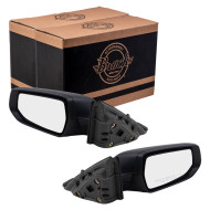 2016-2019 Chevrolet Malibu Pair Mirrors Driver and Passenger Side Power Textured Black Set 84288097 84288099