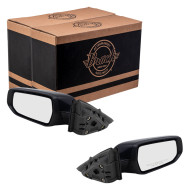 2016-2019 Chevrolet Malibu Pair Mirrors Driver and Passenger Side Power Ready To Paint Black Set 84288097 84288099