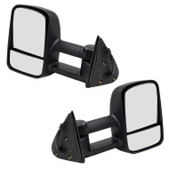Cadillac Chevrolet GMC Pickup Truck SUV New Pair Set Power Tow Towing Heat Heated Side Mirror Glass Housing
