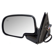 Cadillac Chevrolet GMC SUV Pickup Truck New Drivers Power Side View Mirror Glass Housing Heated Chrome Cap