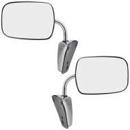 Chevy Blazer Pickup Truck Suburban Van GMC Jimmy New Pair Set Manual Side View Mirror Stainless Steel Low Mount Assembly