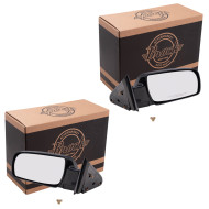 Blazer Tahoe Suburban Pickup Truck Yukon New Pair Set Manual Side View Mirror Glass Housing Standard Type Plastic Base