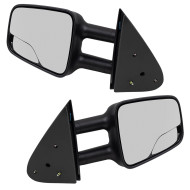 Cadillac Chevrolet GMC SUV Pickup Truck New Pair Set Manual Telescopic Tow Mirror Glass Housing with Spotter Glass