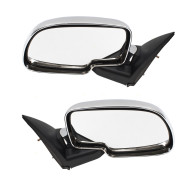 99-07 GM Pickup Truck SUV New Pair Set Performance Upgrade Chrome Manual Mirror Glass Housing Assembly