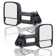 Blazer Suburban Yukon Chevy GMC Pickup Truck New Pair Performance Upgrade Telescopic Tow Power Side Mirror w/ Signal