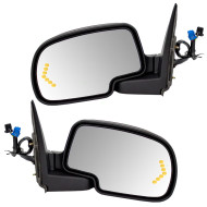 Cadillac GMC Chevrolet Pickup Truck SUV New Pair Set Power Side View Mirror Heated Signal Puddle Lamp