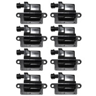 Cadillac Chevrolet GMC Hummer SUV Pickup Truck Van 8 cyl New 8 Piece Set Square Ignition Spark Plug Coil Assembly