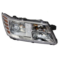 09-18 Dodge Journey New Passengers Halogen Headlight Headlamp Chrome Trim Bright Background Housing Assembly