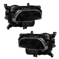 14-18 Jeep Cherokee New Pair Set Halogen Headlamp Headlight Lens Black Trim Housing Assembly