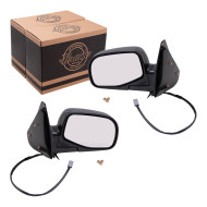 Ford Ranger Mazda Pickup Truck New Pair Set Power Side View Mirror Glass Housing Textured Assembly