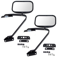 Ford Bronco Pickup Truck Explorer Bronco II Ranger New Manual Side Mirror Glass Swing Lock 5x8 Plastic Housing