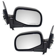 Ford Ranger Mazda Pickup Truck New Pair Set Manual Side View Mirror Glass Housing Styled Type Textured Assembly