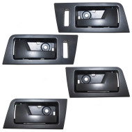 Ford Escape Mazda Tribute Mercury Mariner & Hybrid New 4 Piece Set Front w/ Rear Inside Interior Black Door Handle