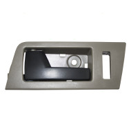 Ford Escape Mazda Tribute Mercury Mariner & Hybrid New Drivers Front Inside Door Handle Stone Gray Bezel w/ Black Lever