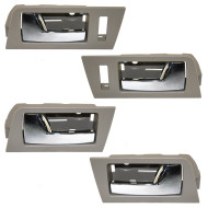 Ford Escape Mazda Tribute Mercury Mariner & Hybrid New 4 Piece Set Inside Front & Rear Stone Bezel w/ Chrome Door Handle