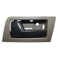 Ford Escape Mazda Tribute Mercury Mariner & Hybrid New Drivers Rear Inside Door Handle Stone Gray Bezel w/ Black Lever
