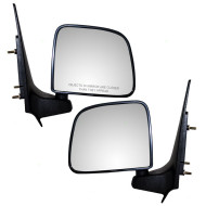 Mazda Pickup Truck Ford Ranger New Pair Set Manual Side View Mirror Glass Housing Textured Post Mount