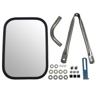 78-91 GM Pickup Truck SUV New Universal Camper Trailer Tow Mirror Stainless Steel w/ Short Bracket & Hardware Kit