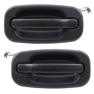 Cadillac Chevrolet GMC Pickup Truck Suburban SUV New Pair Set Rear Outside Outer Textured Door Handle Assembly