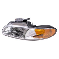 96-00 Caravan Voyager Grand Caravan Town & Country without Quad Lamps New Drivers Headlight Headlamp Housing Assembly