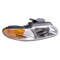 96-00 Caravan Voyager Town & Country without Quad Lamps New Passengers Headlight Headlamp Lens Housing Assembly DOT