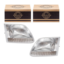 Ford Expedition F-150 & Heritage F-250 Pickup Truck New Pair Set Headlight Headlamp Housing Assembly DOT