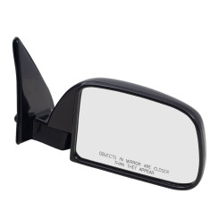 89-95 Toyota Pickup Truck without Vent Window New Passengers Manual Side View Mirror Glass Housing Sail Mounted