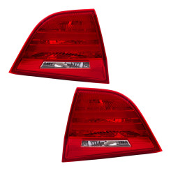 2009-2011 BMW 3 Series E90 Sedan Pair Tail Lights Lid Trunk Mounted Lens Set with Housing