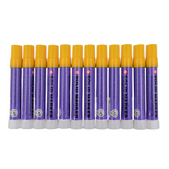 Sakura 12 Piece Set Dozen Yellow Solid Paint Markers Twist Up Auto Art Car Dealer Commercial Industrial