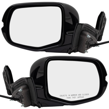 2017-2019 Honda Ridgeline Pickup New Pair Set Side View Power Mirrors with Cover 76250T6ZA41ZB 76200T6ZA41ZB