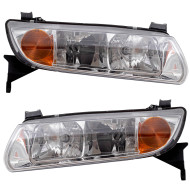 Picture of 00-02 Saturn L Series New Pair Set Headlight Headlamp Lens Housing Assembly DOT