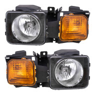 Picture of 06-10 Hummer H3 09 H3T New Pair Set Headlight Headlamp Lens Housing Assembly DOT