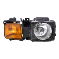 Picture of 06-10 Hummer H3 09 H3T New Passengers Headlight Headlamp Lens Housing Assembly DOT Aftermarket