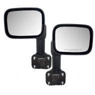 Picture of 08-09 Hummer H2 SUV Pickup Truck New Pair Set Power Side View Mirror Glass Housing Heated with Chrome Trim Assembly