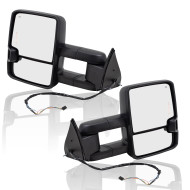 99-02 GM Pickup Truck SUV New Pair Set Tow Power Side Mirror Heated Telescopic w/ Smoke External Signal & Clearance Lamp