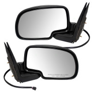 Cadillac Chevrolet GMC Pickup Truck SUV New Pair Set Power Side View Mirror Glass Housing with Cap Assembly