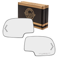 Cadillac Chevrolet GMC Pickup Truck SUV New Pair Set Power Side View Mirror Glass & Bases Heated Signal