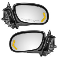 Picture of 03-05 Buick Park Avenue New Pair Set Power Side View Mirror Glass Housing Heated Signal in Glass