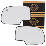 Cadillac Chevrolet GMC Pickup Truck SUV New Pair Set of Mirror Glass with Base Heated Aftermarket
