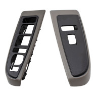 03-06 Silverado Sierra Crew Cab New Pair Set Medium Gray Power Window Switch Bezels Trim