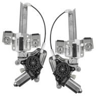 Picture of 01-03 Oldsmobile Aurora New Pair Set Rear Power Window Lift Regulators with Motors Assemblies