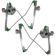Picture of 03-07 Cadillac CTS New Pair Set Front Power Window Lift Regulators Aftermarket Replacement