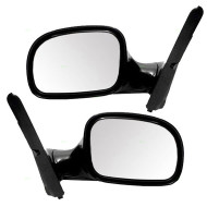 96-00 Town & Country Caravan / Grand Caravan Voyager & Grand Voyager New Pair Set Manual Side View Mirror Glass Housing