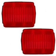 64-66 Ford Mustang New Pair Set Taillight Taillamp Lens Dot Aftermarket