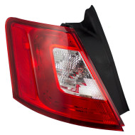 10-12 Ford Taurus New Drivers Taillight Taillamp Quarter Panel Mounted Lens with Red Trim Housing Assembly DOT