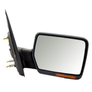 Ford F-150 Lincoln Mark LT Pickup Truck New Passengers Power Side View Mirror Glass Housing Heated Signal Chrome Cover