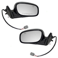 Picture of 98-02 Lincoln Town Car New Pair Set Power Side View Mirror Glass Housing Heated Smooth Assembly