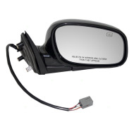 Picture of 98-02 Lincoln Town Car New Passengers Heated Power Side View Mirror Glass Housing Assembly